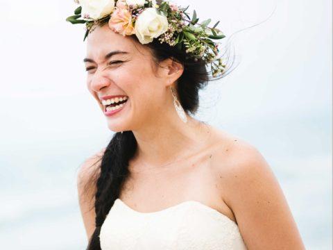 Bride at Guam Beach