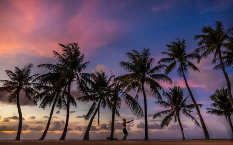 Sunset at Guam beach