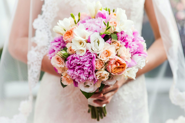 A Bride Holding Bouquet
